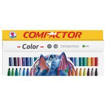 Caneta Hidrográfica Compactor Color - 24 Unidades -