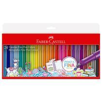 Caneta hidrográfica Fine pen Colors - com 24 Cores - FPB/ES24ZF - Faber-Castell -