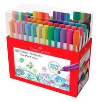 Caneta hidrográfica Fine Pen Colors - com 48 Cores - FPB/ES48ZF - Faber-Castell -
