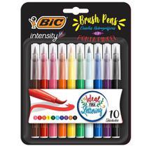 Caneta Hidrografica Intensity Brush Pens 10 UN Bic -