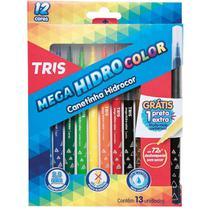 Caneta Hidrografica Mega Hidro Color 12 Cores Summit Pct.c/0 -