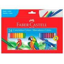 Caneta hidrográfica prestocolo 24 cores 150124CZF - Faber-Castell -