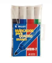 Caneta Pincel para Quadro Branco Lousa 4 Cores Wbm 7 Pilot -