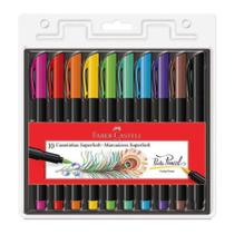 Caneta Ponta Pincel Brush SuperSoft 10 Cores FaberCastell PM - Faber castell