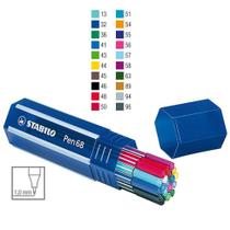 Caneta Porosa 1.0mm Stabilo Pen 68 Estojo 20 Cores 6820-1 -