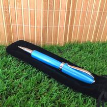 Caneta Regal - Modelo: Perolado Azul Claro -