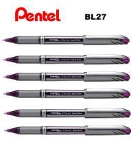 Caneta Rollerball Pentel Energel 0,7mm BL27 - Kit C/6 Viol. -