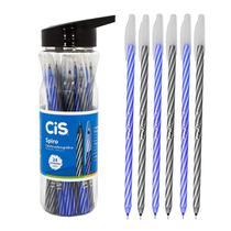 Caneta Spiro Cis 0,7mm Azul Preta Ponta Agulha 24 Unidades -