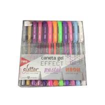 Caneta Tris Gell Effect Glitter Pastel Neon 12und - Summit