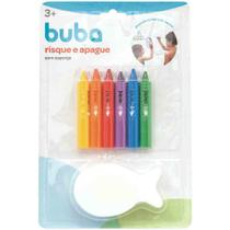 Canetas Para Colorir No Banho Risque E Apague Com Esponja - Buba