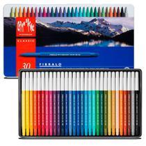 Canetinha Fibralo Aquarelável Caran D'ache Estojo Lata com 30 cores - 0185.330 - Carandache