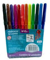 Canetinha hidrocor 12 cores onda -