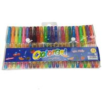 Canetinhas Gel Estojo c/ 24 unidades Glitter e Cheiro de Fruta - Colorgel