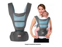 Canguru Bebê 6 Posições Ergonômico Conforto Carregador 20 Kg Cinza - Importway Kids
