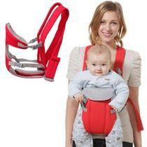 Canguru Carrega Bebê Ergonômico Passeio Importway 3 em 1 Posições Baby Até 15 Kg Vermelho -