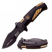 Canivete Faca Tático Mtech Gold Mt-a944 Militar Cinto Pesca Camping -