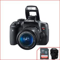 Canon EOS  T6i, WIFI com 18-55mm f/3.5-5.6 IS STM cortesia cartão + bolsa