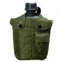 Cantil 950 Ml em Plastico com Capa Verde Militar  Guepardo -