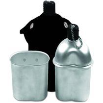 Cantil Alumínio Preto Echolife com Capa e Caneca -