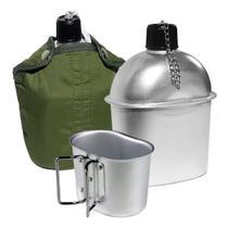 Cantil Com Caneca Aluminio Xepa Ntk Nautika Exercito Tático Verde -
