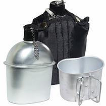 Cantil De Aluminio Com Caneca E Capa - Echolife Preto -