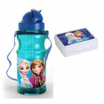027e6bed10 Cantil Garrafa Plastica 500ml Disney Frozen com Porta Lanche - Mochila  dermiwil