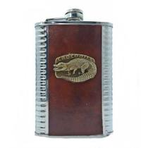 Cantil Inox Porta Bebidas 200ml Whisky Vodka/run Crocodilo - Ll