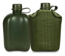 Cantil militar plastico 900ml verde ntk com capa - NAUTIKA