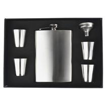 d21a1f89f7 Cantil Porta Bebida De Bolso 230ml Inox Whisky Vodka Rum - Horizonte