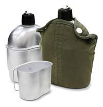 Cantil térmico com caneca de alumínio 900ml trilha camping - NTK