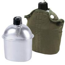 Cantil Térmico De Alumínio 900ml Verde Militar Nautika -