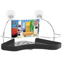 Cantoneira aramado / plastico preta com ventosa 34,5x16,5cm - Niquelart