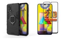 Capa Ant Impacto Anel Magnetico Samsung Galaxy M31 + Pel 21d -