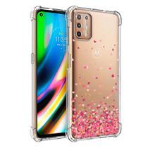 Capa Anti Impacto Capinha Corações Rosa Motorola Moto G9 Plus - Jfo.Comercio