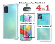 Capa Anti Impacto Galaxy A71 + Pelicula de Vidro 9D + Pelicula Camera + Skim Verso 3D - Sm