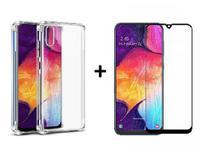 Capa Anti Impacto Samsung Galaxy A30s + Película De Gel 5D - Yellow Lens
