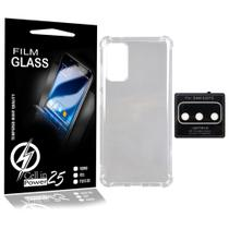 Capa Anti impacto transparente + Pelicula de Camera  Samsung Galaxy S20 FE G780F (Tela 6.5) - Cell In Power25