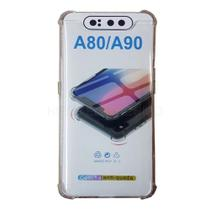 Capa Anti Impactos Samsung Galaxy A80 / A90 Transparente + Película de Gel - Hmaston