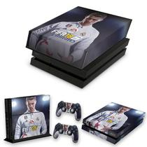 Capa Anti Poeira e Skin para PS4 Fat - Fifa 18 - Pop Arte Skins