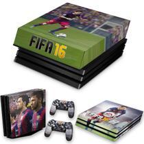 Capa Anti Poeira e Skin para PS4 Pro - Fifa 16 - Pop Arte Skins