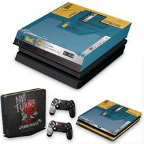 Capa Anti Poeira e Skin para PS4 Slim - Cyberpunk 2077 Bundle - Pop Arte Skins
