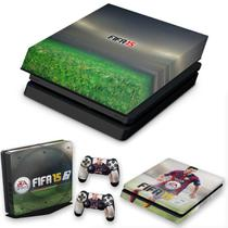 Capa Anti Poeira e Skin para PS4 Slim - Fifa 15 - Pop Arte Skins