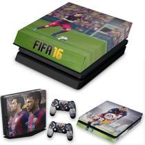 Capa Anti Poeira e Skin para PS4 Slim - Fifa 16 - Pop Arte Skins