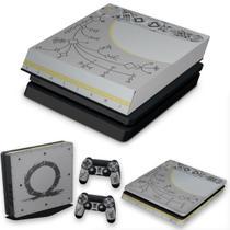 Capa Anti Poeira e Skin para PS4 Slim - God Of War Limited Edition - Pop Arte Skins