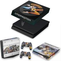 Capa Anti Poeira e Skin para PS4 Slim - Overwatch - Pop Arte Skins