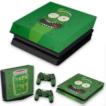 Capa Anti Poeira e Skin para PS4 Slim - Pickle Rick And Morty - Pop Arte Skins