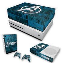 Capa Anti Poeira e Skin para Xbox One S Slim - Avengers Vingadores Comics - Pop Arte Skins