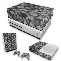 Capa Anti Poeira e Skin para Xbox One S Slim - Camuflagem Cinza - Pop Arte Skins