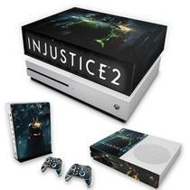 Capa Anti Poeira e Skin para Xbox One S Slim - Injustice 2 - Pop Arte Skins