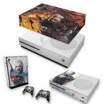 Capa Anti Poeira e Skin para Xbox One S Slim - The Witcher 3 B - Pop Arte Skins